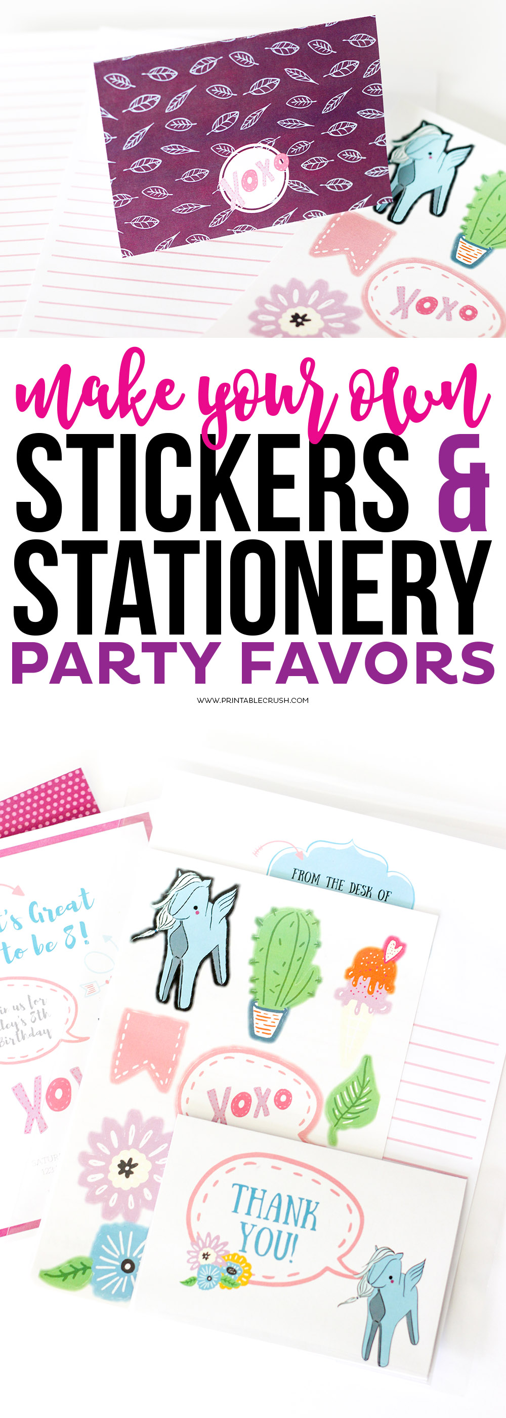 Make your own stickers collage with stickers and stationary