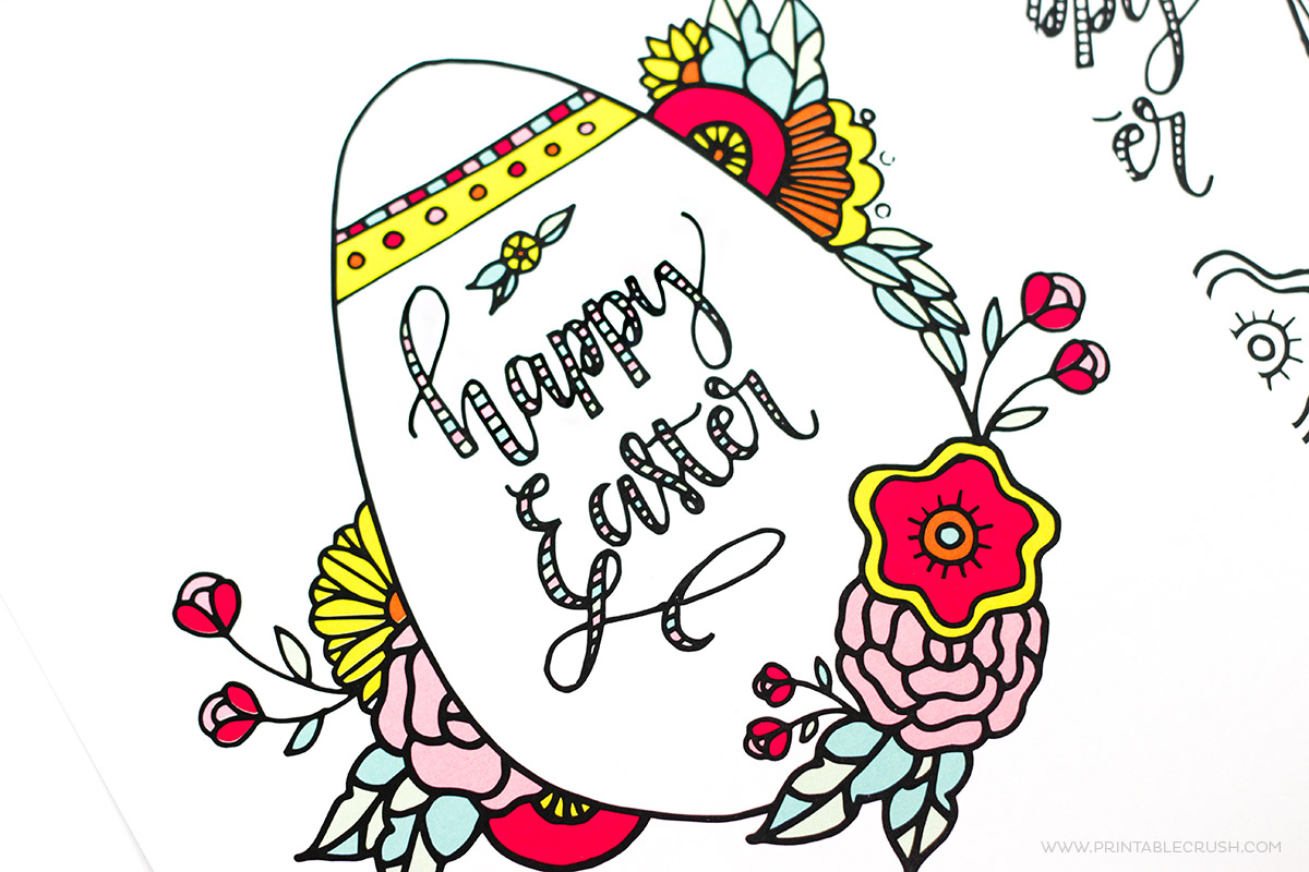 Free Easter Watercolor And Brush Lettering Practice Sheets