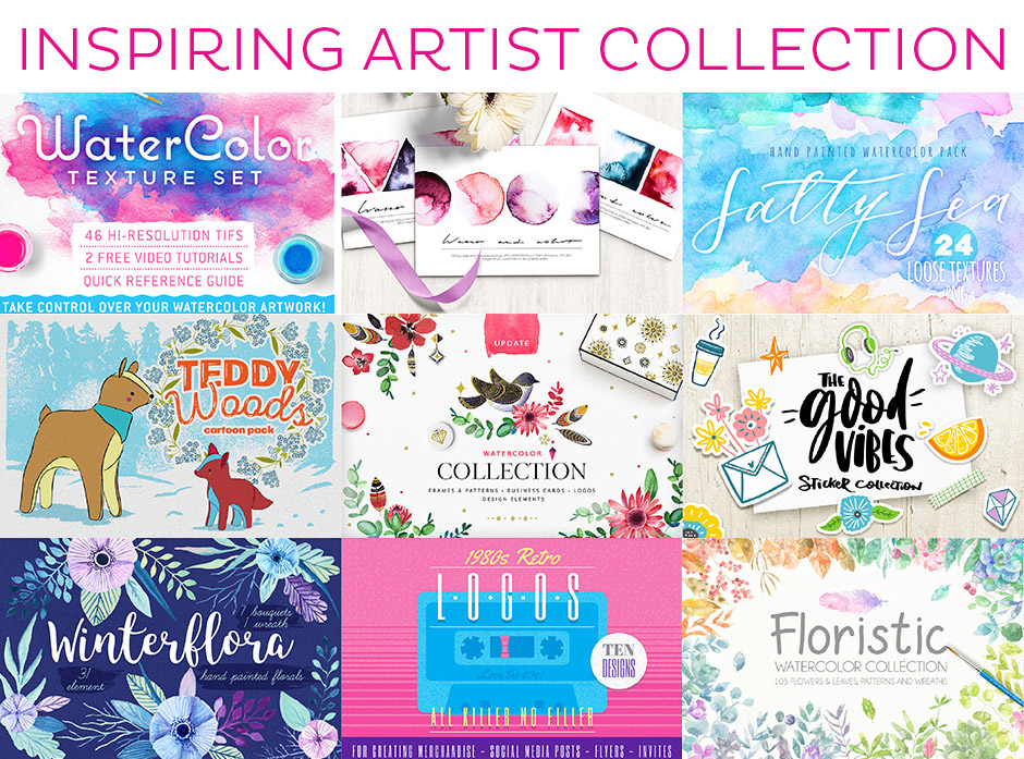 Inspiring artist collection collage
