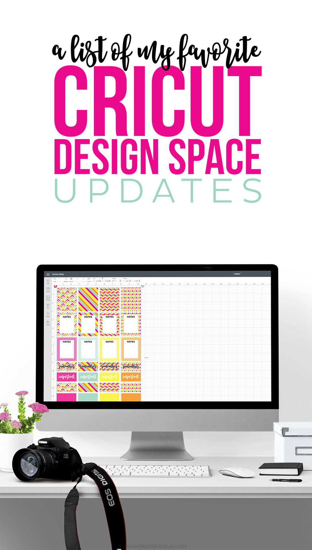 The new design space is AMAZING and I've listed my FAVORITE Cricut Design Space Updates...the Cricut Explore just got WAY better!