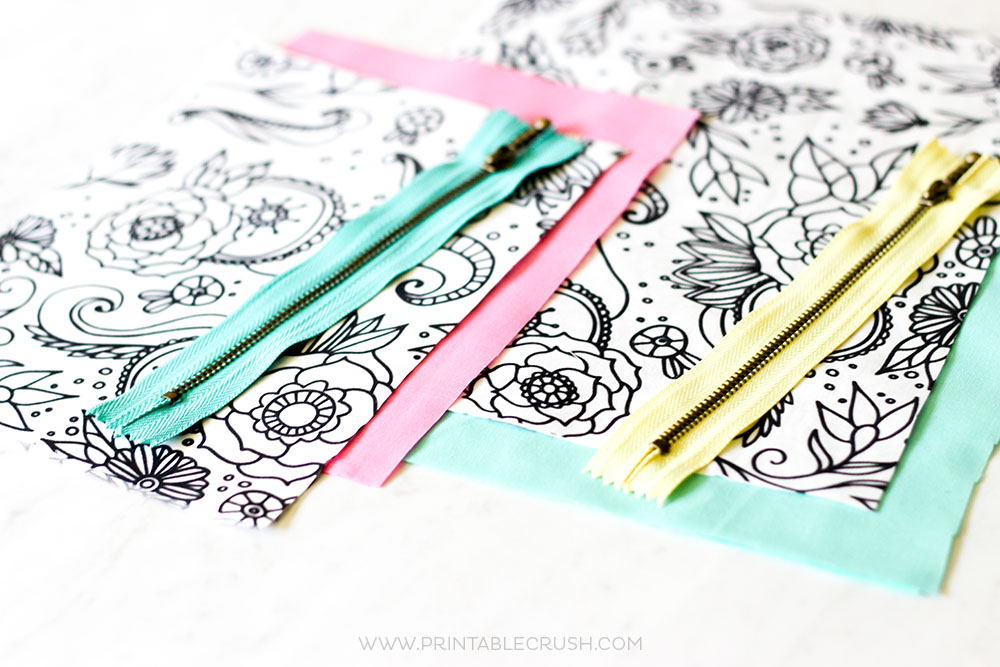 Follow this Zippered Pouch Tutorial for an easy sewing craft. Plus, the coloring book fabric is SO fun and pretty!