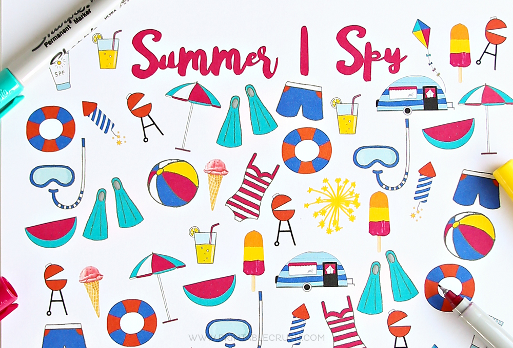 graphic regarding I Spy Printable Worksheets titled Free of charge Summertime I Spy Printable - Printable Crush