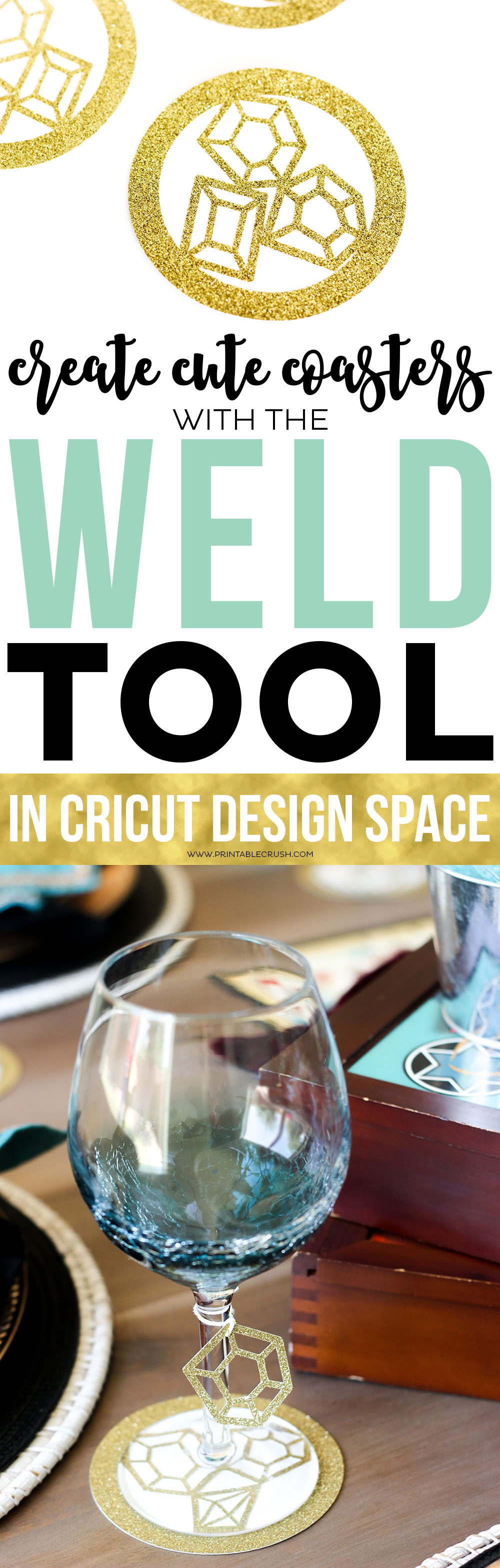 Learn to use the Weld Tool in Cricut Design Space and you can make some cute coasters and other amazing crafts!