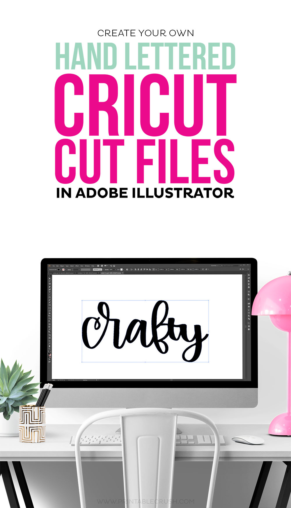 Learn to create Hand Lettered Cricut Files in Adobe Illustrator. I'll go through creating SVG files and PNG files!