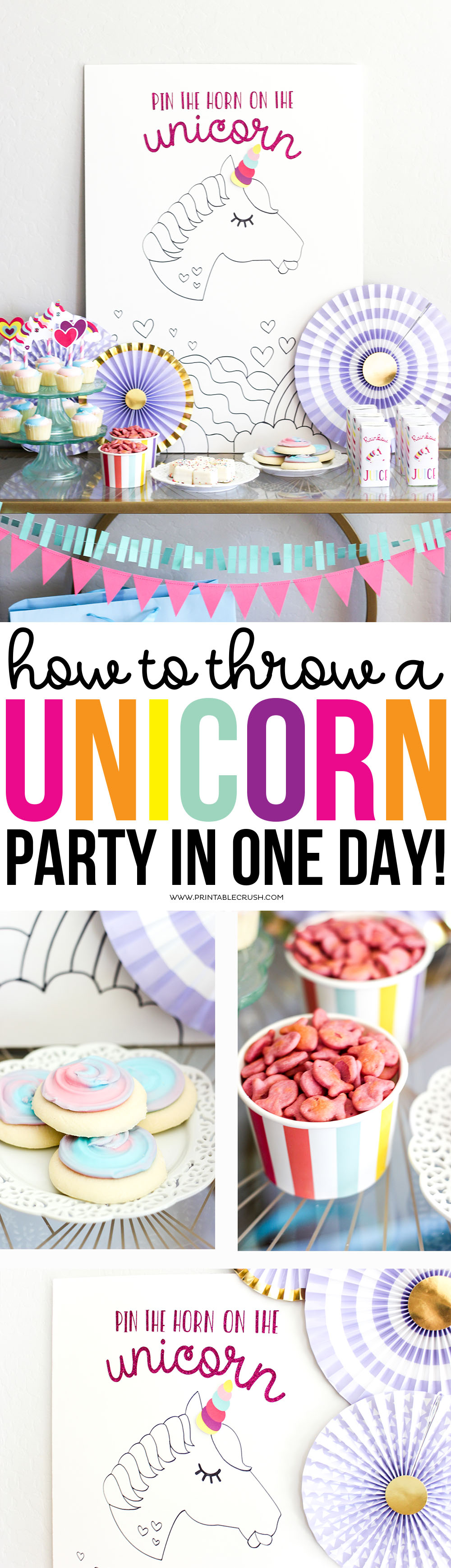 Yes, you can throw a fabulous budget friendly Unicorn Party in only one day with these tips!