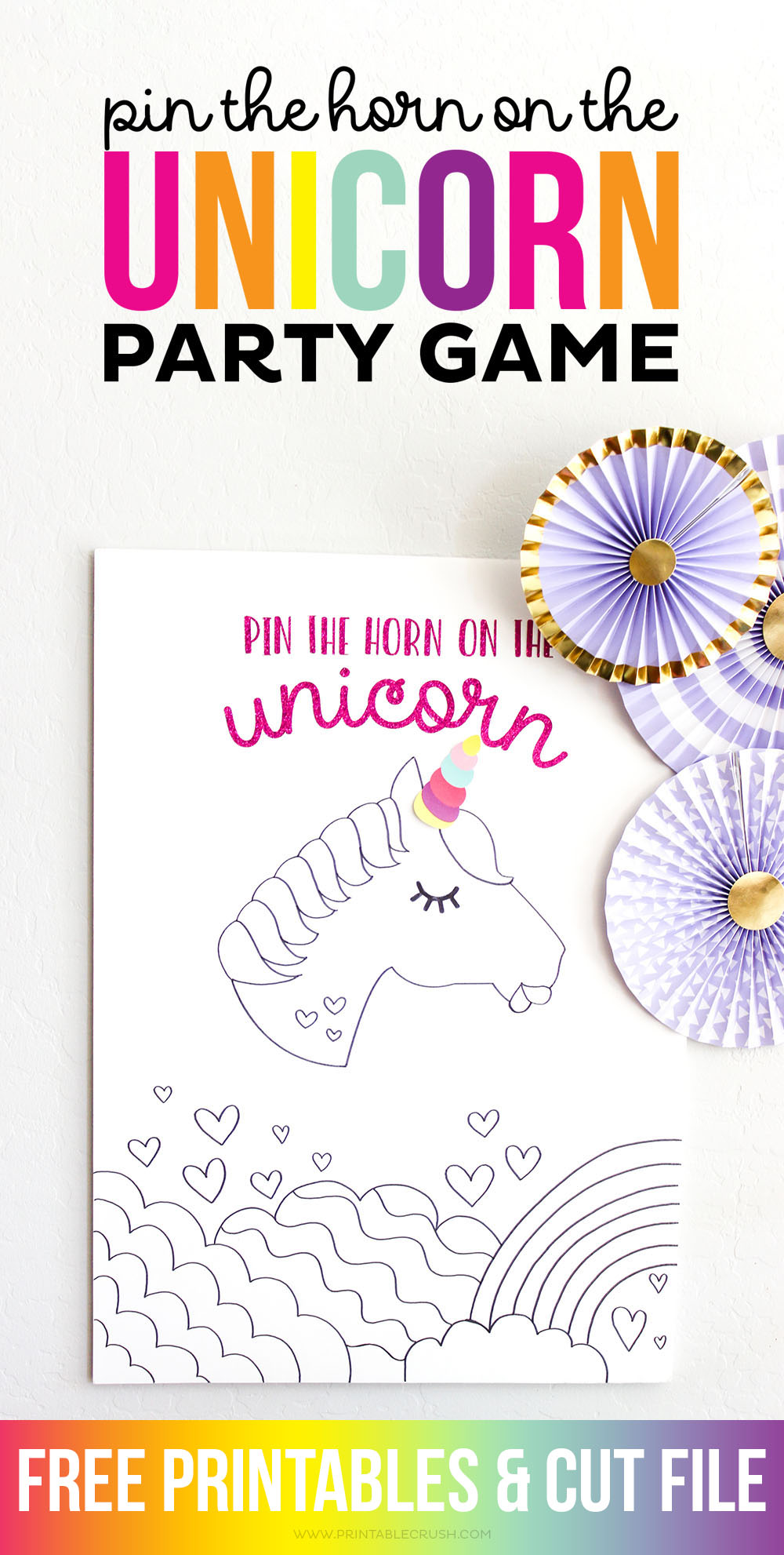 image relating to Pin the Horn on the Unicorn Printable named Pin the Horn upon the Unicorn Get together Video game - Printable Crush