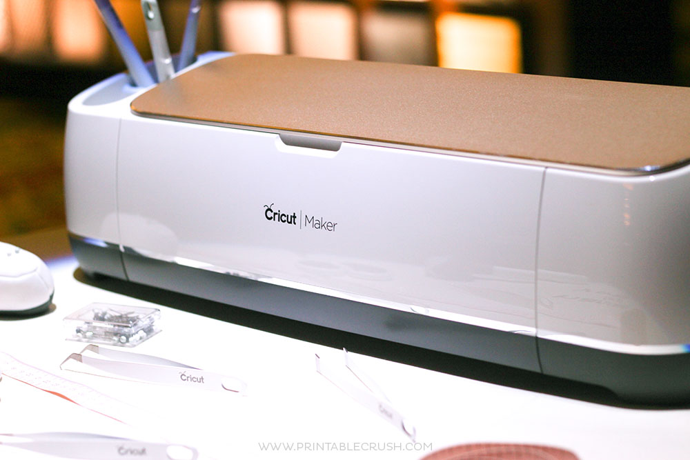 New Cricut Maker and tools on desk