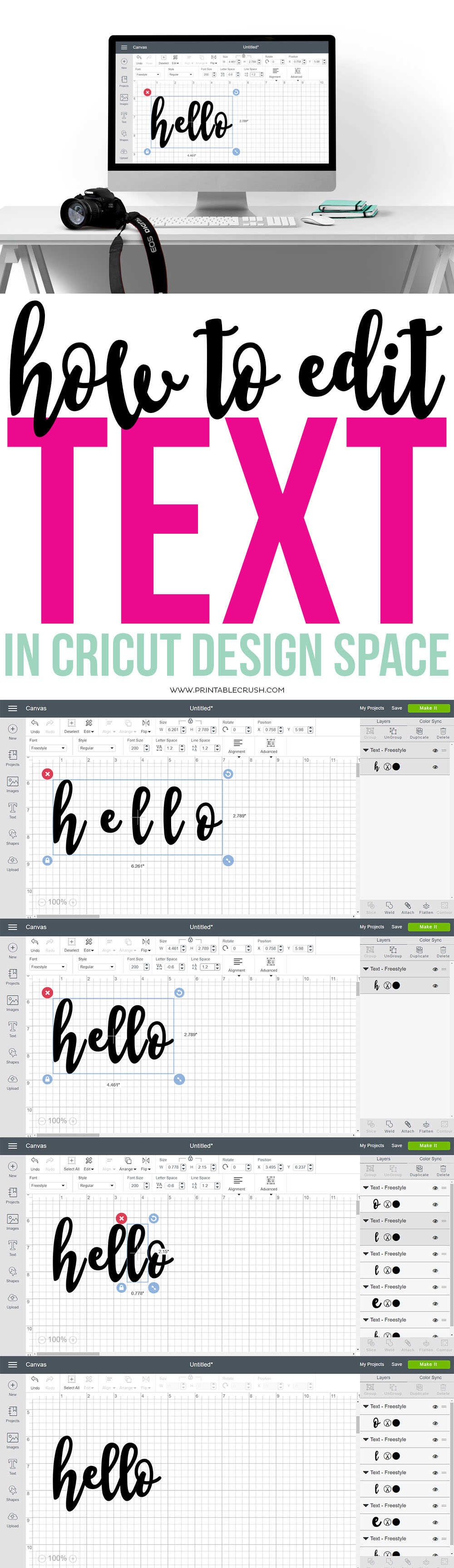 Cricut Design Space - Easily Edit Fonts Using This Tutorial