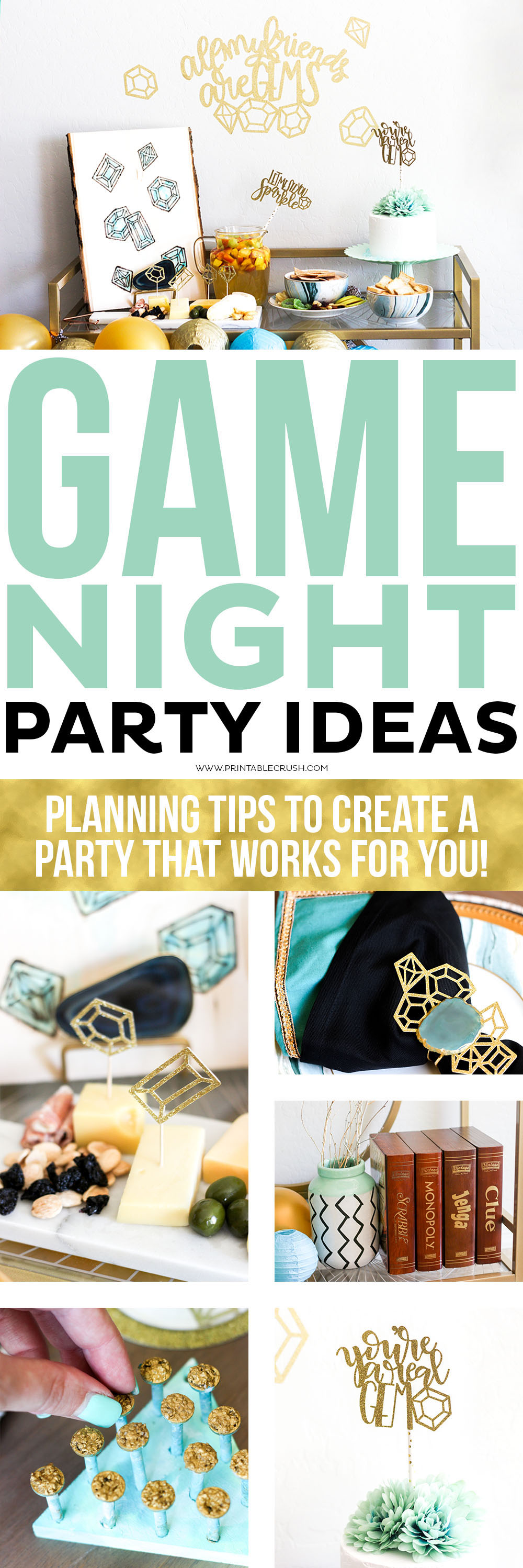 Throw a fabulous or simple Game Night Party with these tips to keep yourself in check!