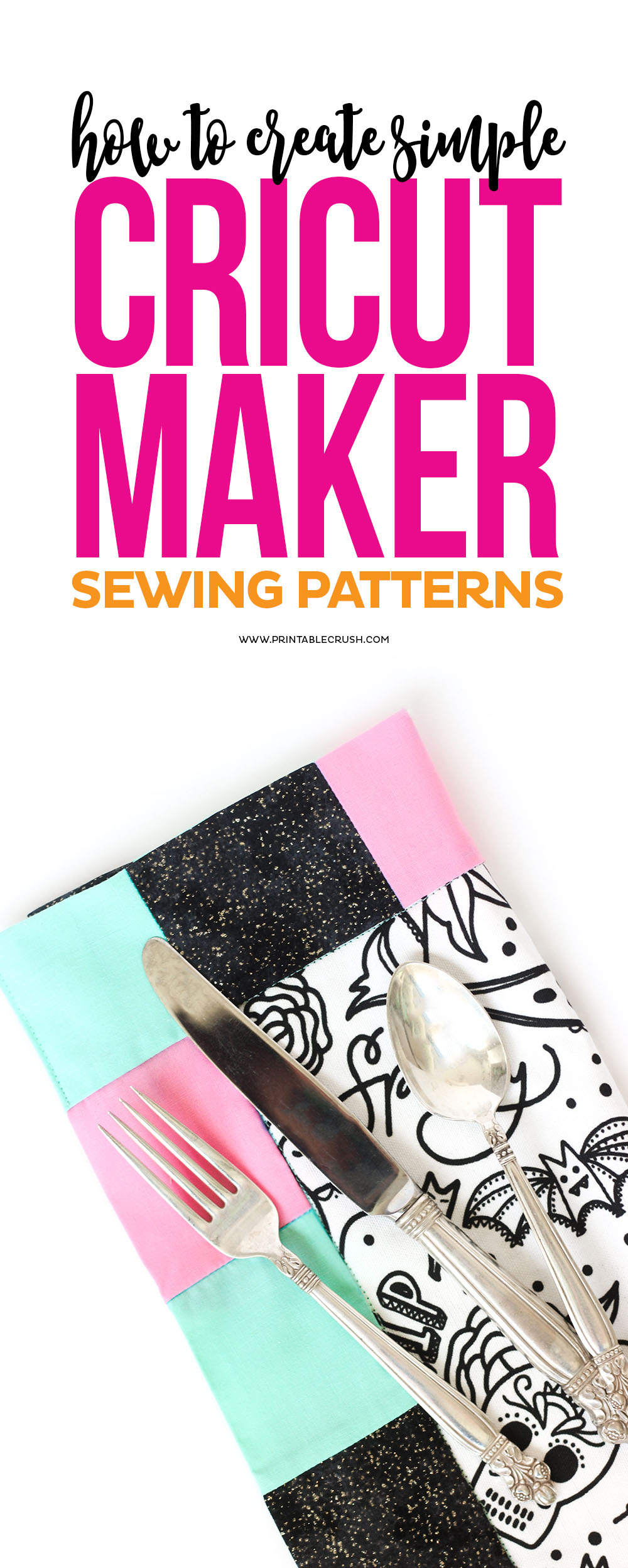 Cricut Design Space has many sewing patterns to choose from, but you can also learn how to create a Simple Cricut Maker Sewing Pattern with this tutorial!