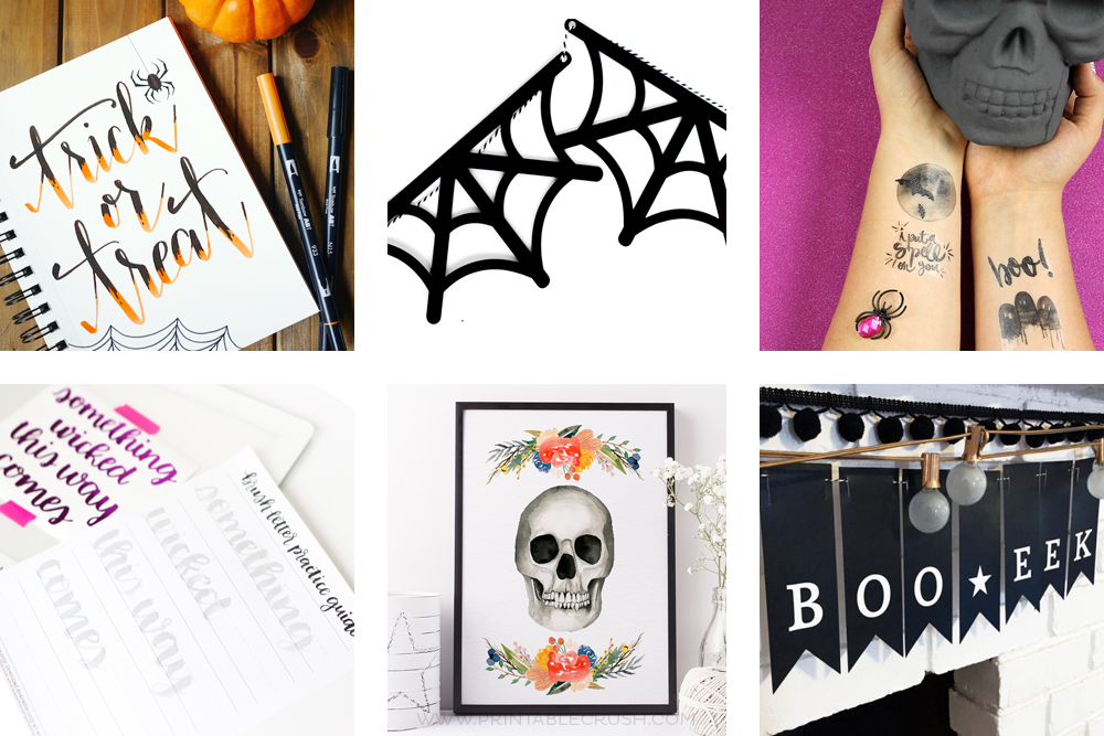 Today I am sharing 13 of my favorite FUN & FREE HALLOWEEN PRINTABLES to help you get prepped for Halloween. I have included party ideas, home decor, hand lettering and more!