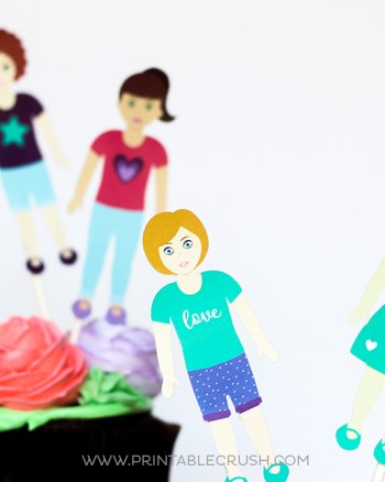 Paper dolls using Cricut machine