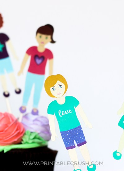 Paper dolls using Cricut machine