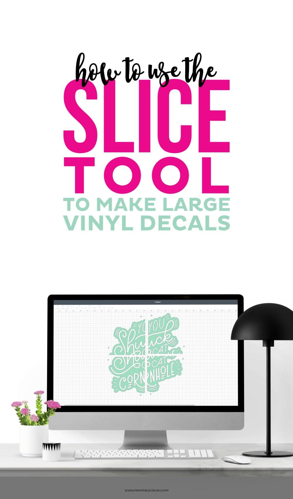 Vinyl decals art on Cricut design space canvas on computer