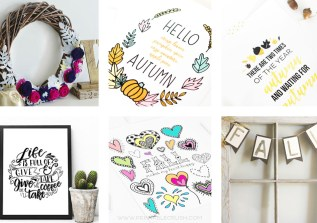 If Fall is your favorite season, then these 12 FALL Printables & Crafts are for you! You'll find wreaths, coloring pages, wall art, banners, and more!