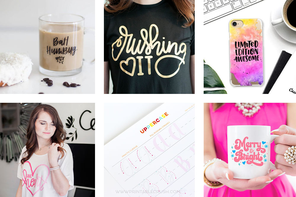 This Hand Lettered Gift Guide is perfect for anyone who loves LETTERING! From coloring pages, tees, to worksheets, you'll find the perfect artistic gift.