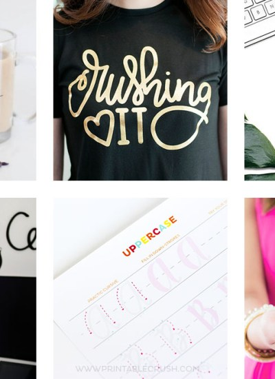 This Hand Lettered Gift Guide is perfect for anyone who loves LETTERING!From coloring pages, tees, to worksheets, you'll find the perfect artistic gift.