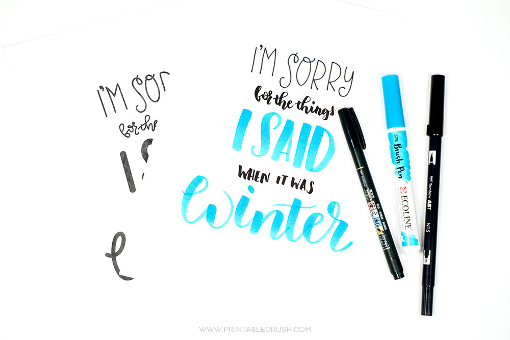 Funny Winter Lettering Practice Sheet - Printable Crush