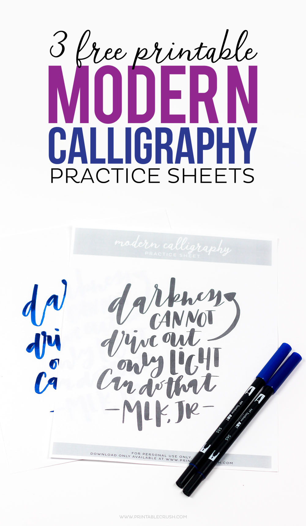 picture about Printable Calligraphy Practice named 3 Cost-free Printable Impressive Calligraphy Educate Sheets