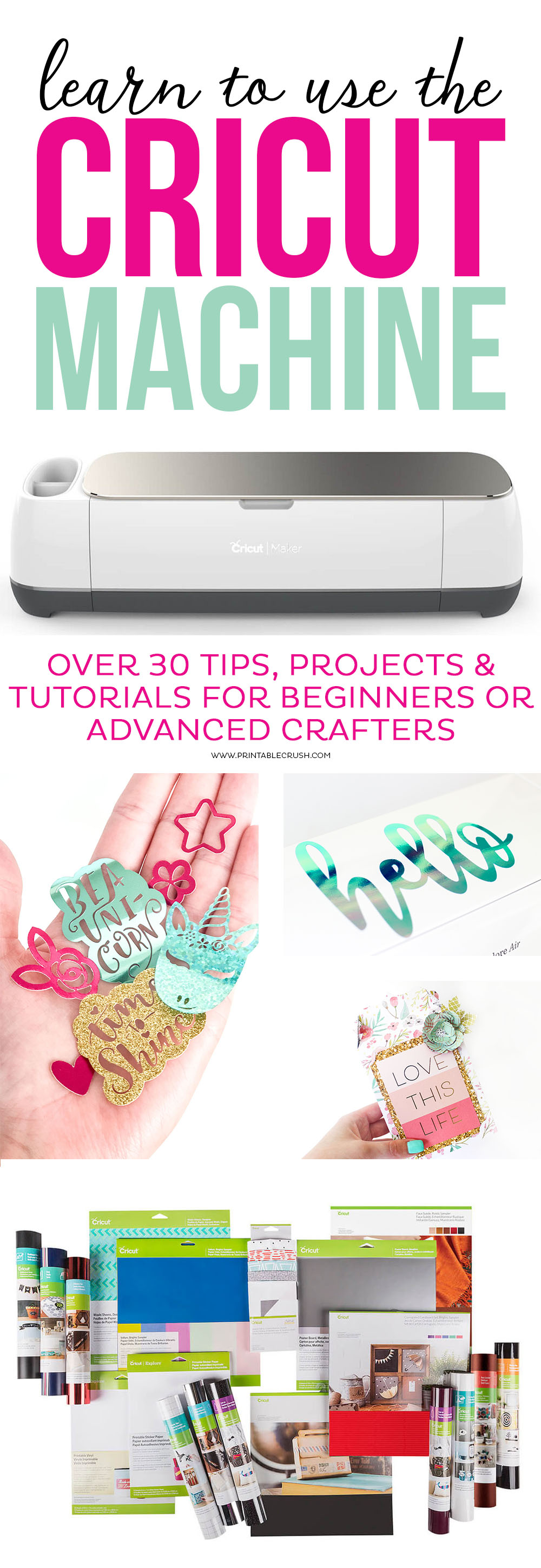 Cricut Machine craft ideas and supplies