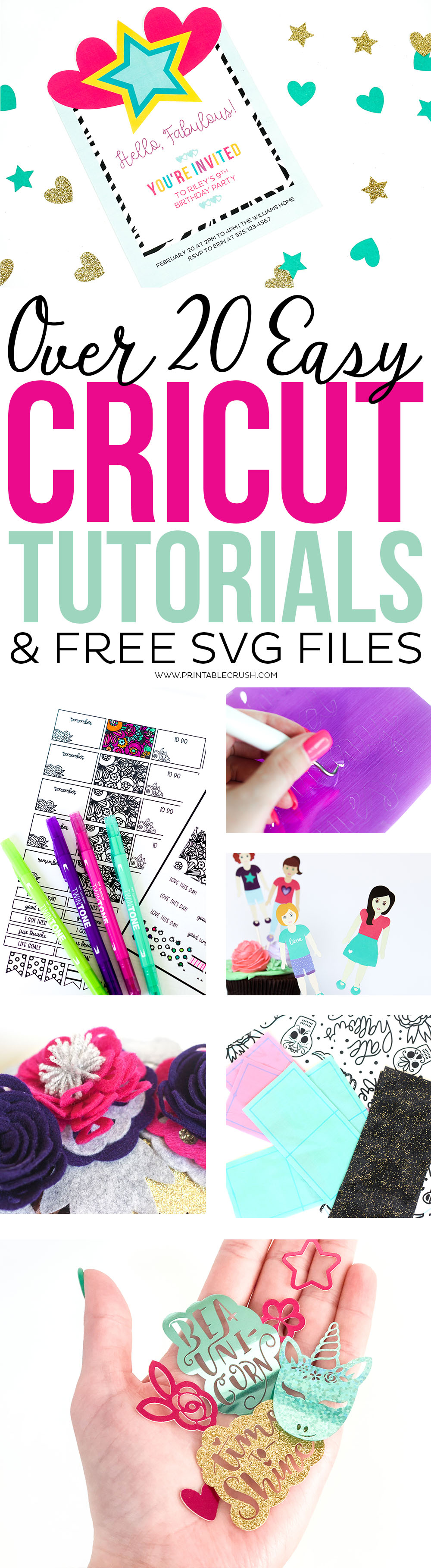 Free SVG Files Plus Over 20 Easy Cricut Tutorials