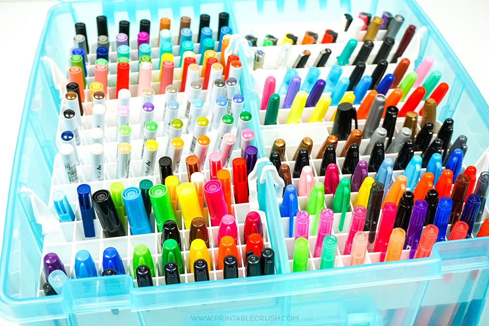 Easy and Inexpensive Marker Storage for Letterers