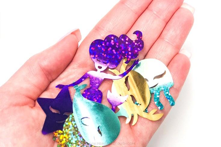 DIY Mermaid Confetti Cricut Tutorial