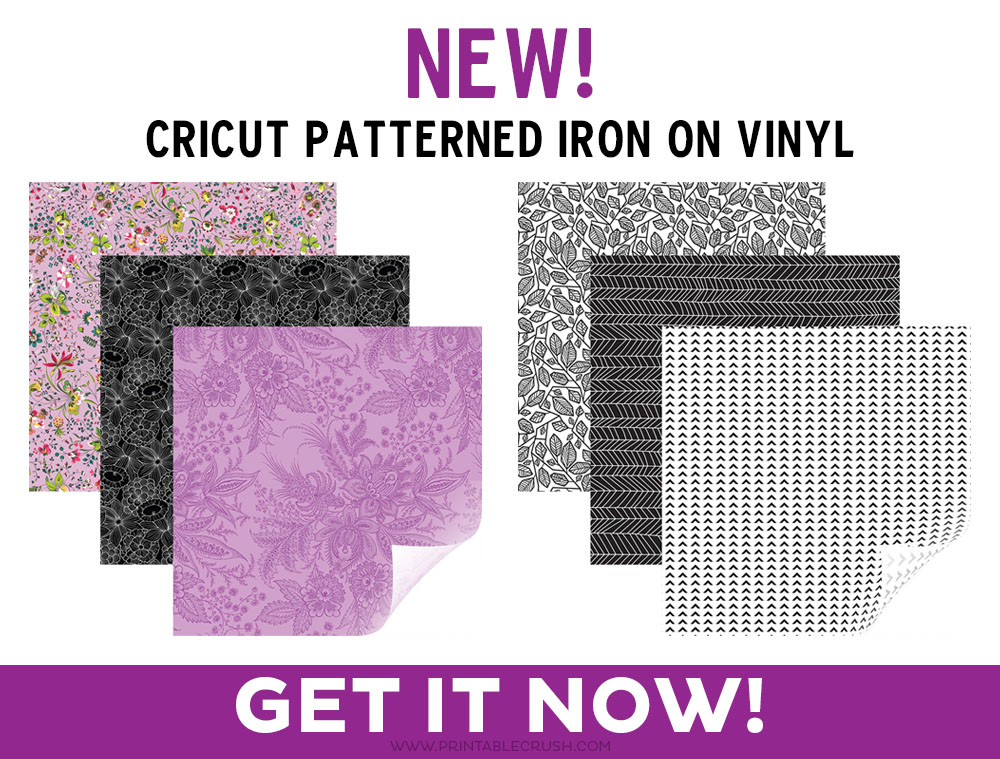 Cricut Patterned Iron On - 9 sample sets with 3 patterns in each set!