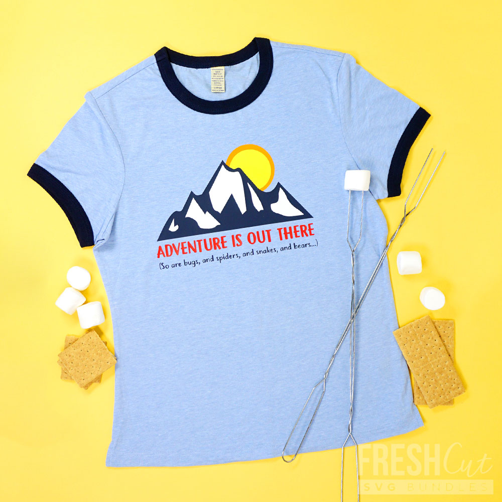Adventure is Out There Ringer Tee svg file