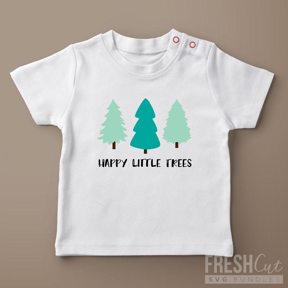 Happy Little Trees Shirt svg file