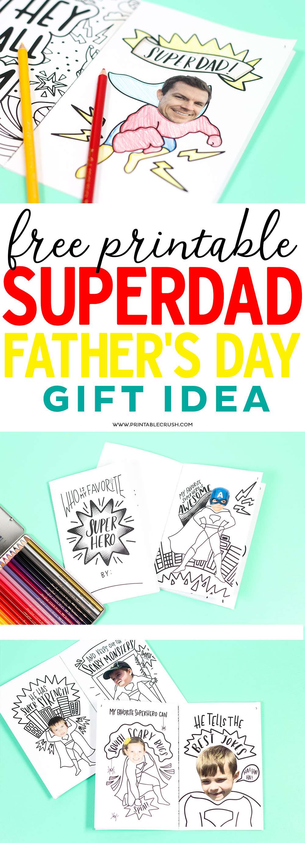 Super Dad will LOVE this personalized Father's Day superhero gift idea!