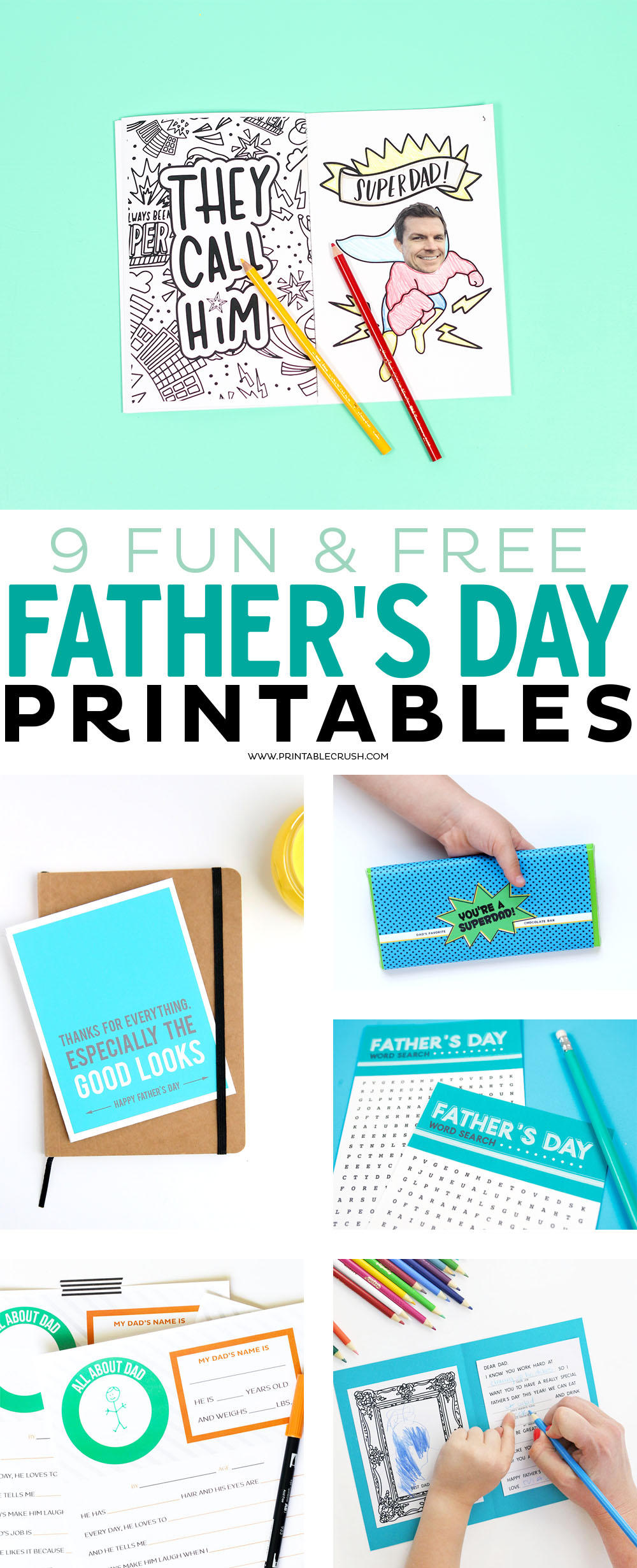 picture relating to Free Printable Funny Father's Day Cards named 9 Entertaining and Cost-free Fathers Working day Printables - Printable Crush