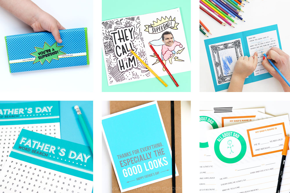 9 Fun and FREE Father's Day Printables