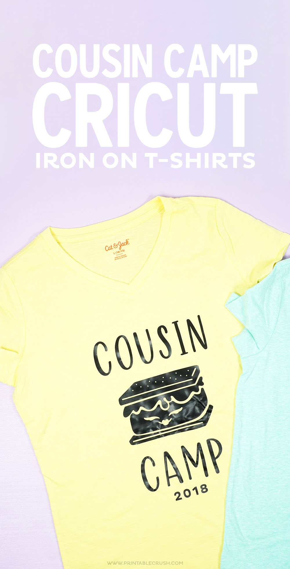 These Cousin Camp Iron-on T-shirts are perfect for family reunions and other family get togethers!