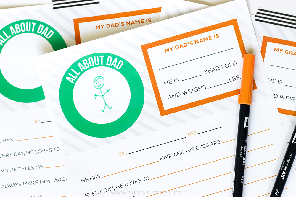 graphic about Father's Day Questionnaire Printable called Totally free Fathers Working day Questionnaire Printable - Printable Crush