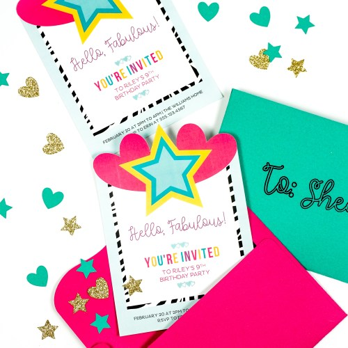 Create Custom Invitations in Cricut Design Space! Works with Any Cricut Machine!