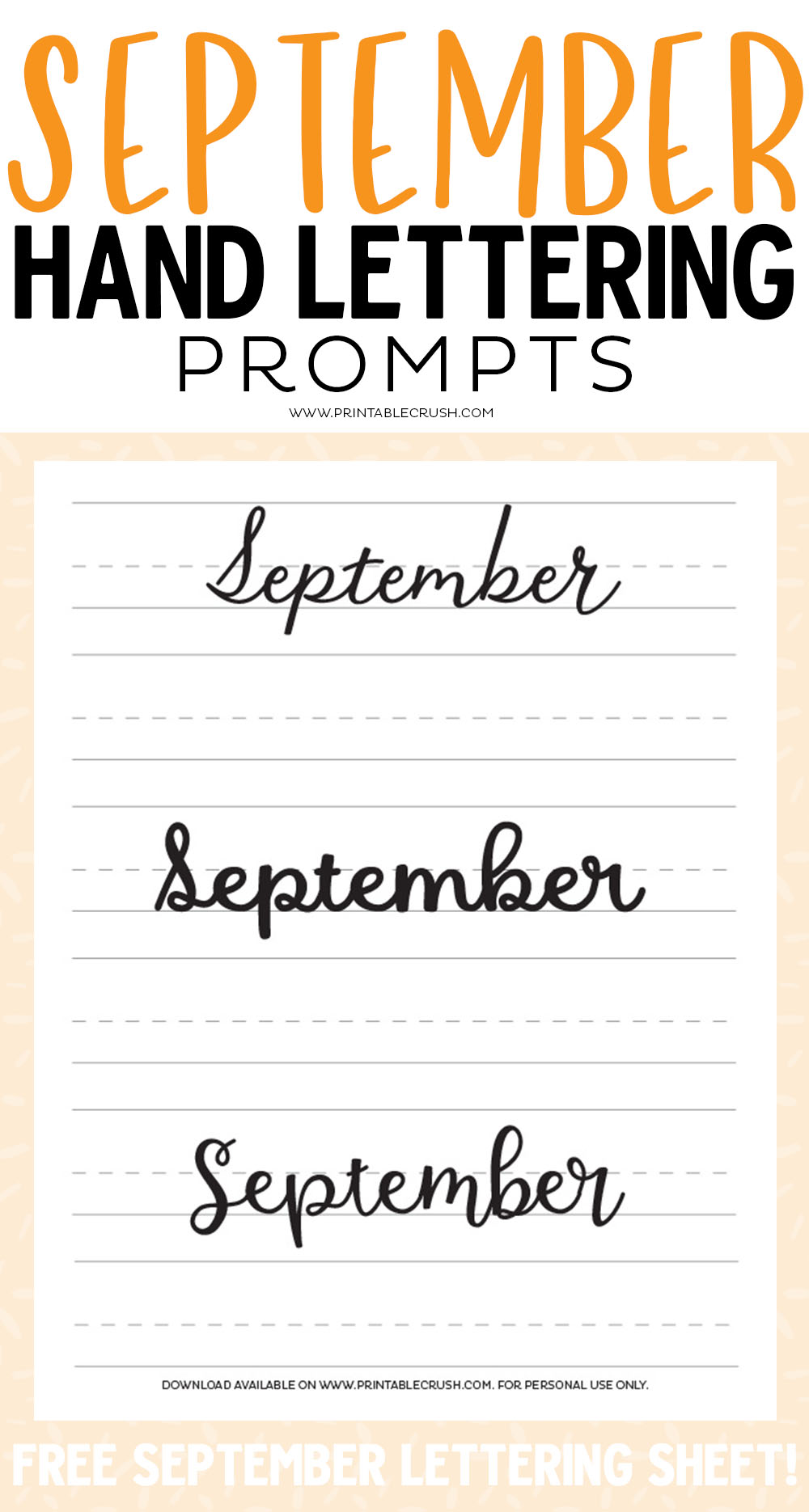 30 days of September lettering prompts to help you practice your lettering skills daily!