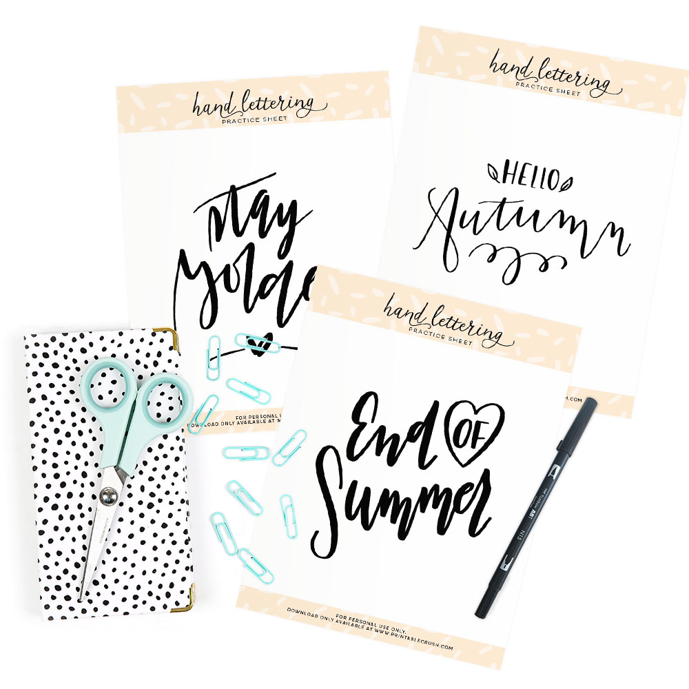 These September Lettering Prompts are all about  fall, outdoors, entertaining and motivation!