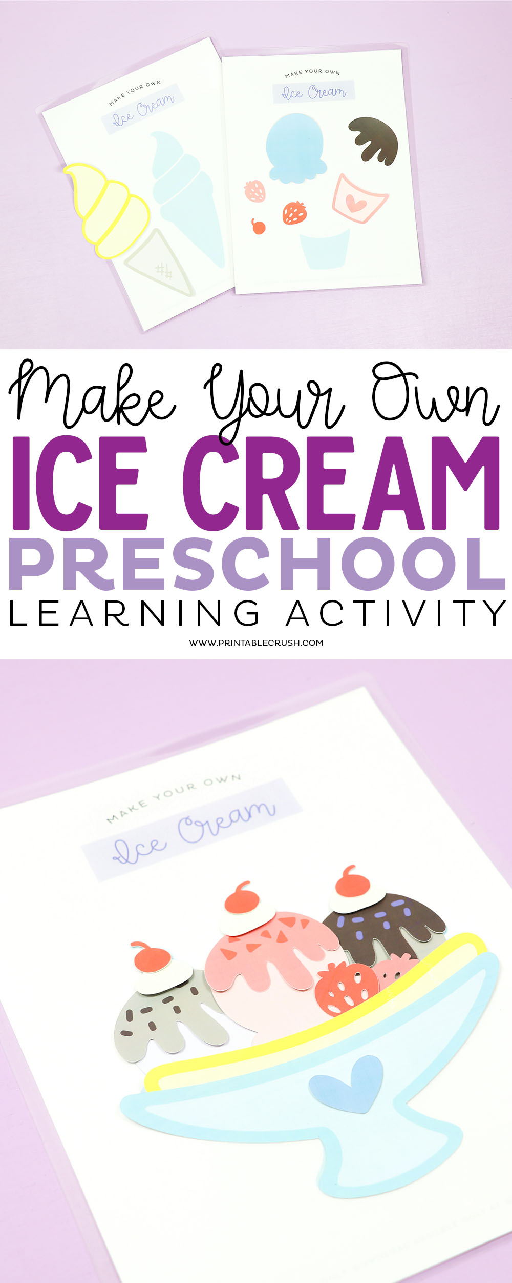 This Make Your Own Ice Cream Preschool Learning Activity is inexpensive and will keep you child entertained for hours!