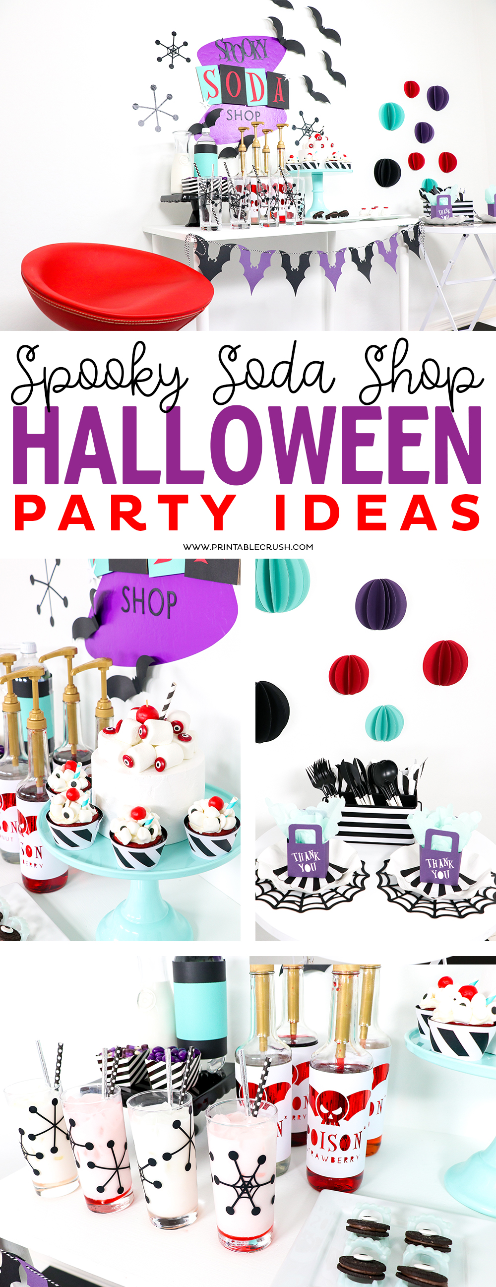 Use these Spooky Soda Shop Halloween Party Ideas to create your own EASY Halloween Party
