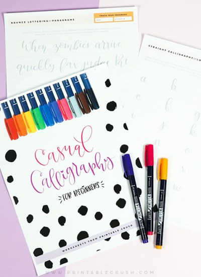 Before you invest in calligraphy lessons, take a look at the supplies you need to get started with this FREE Casual Calligraphy Supply List