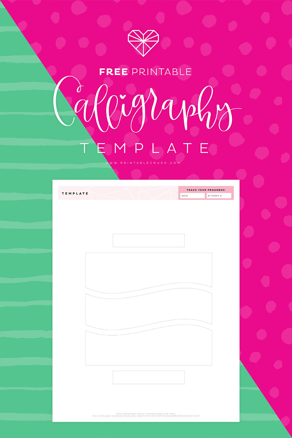 Get those calligraphy layout ideas rolling with this FREE Printable Calligraphy Template! You can use this with calligraphy pens or brush pens.