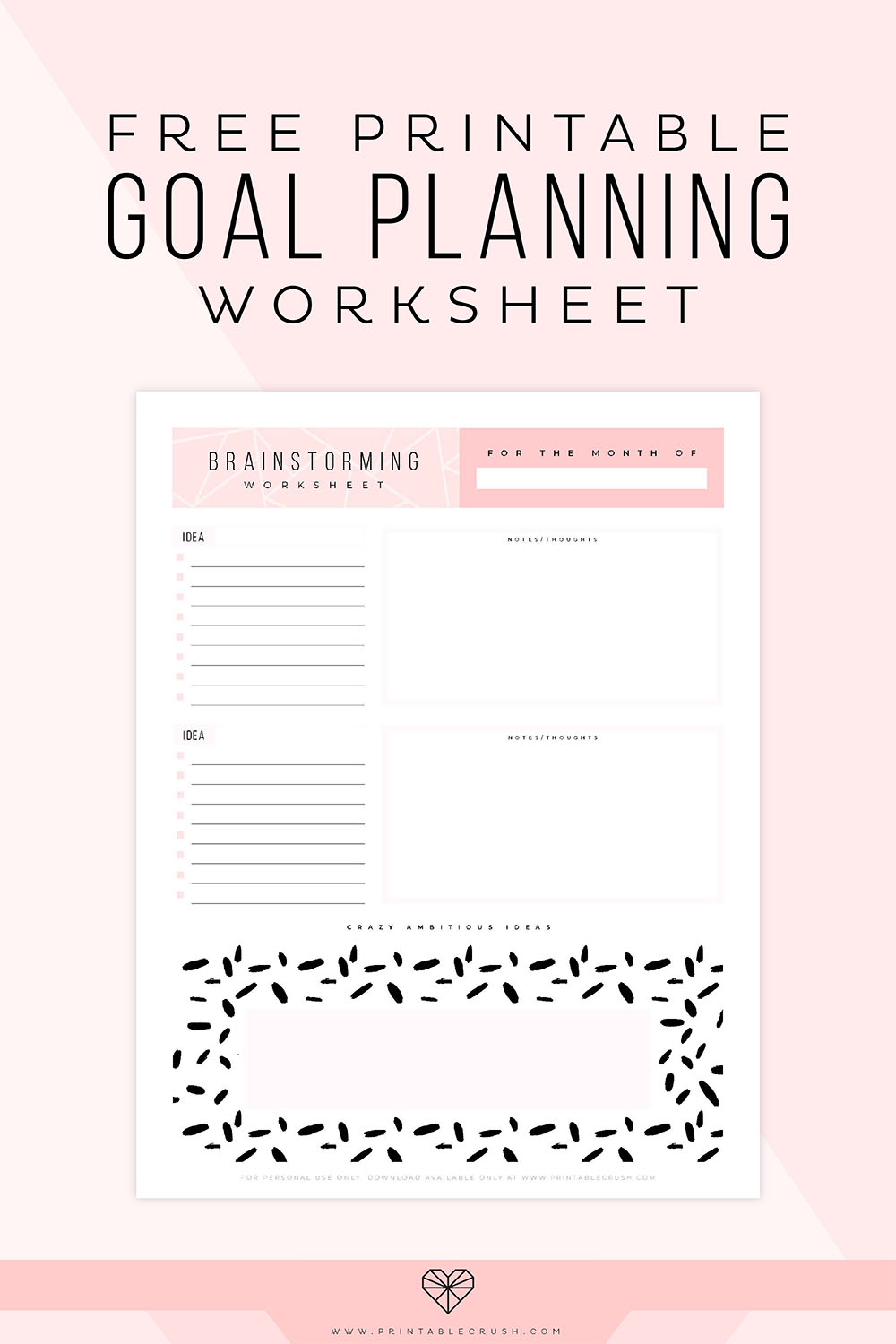 picture regarding Goal Printable referred to as Free of charge Printable Intent Building Worksheet - Printable Crush