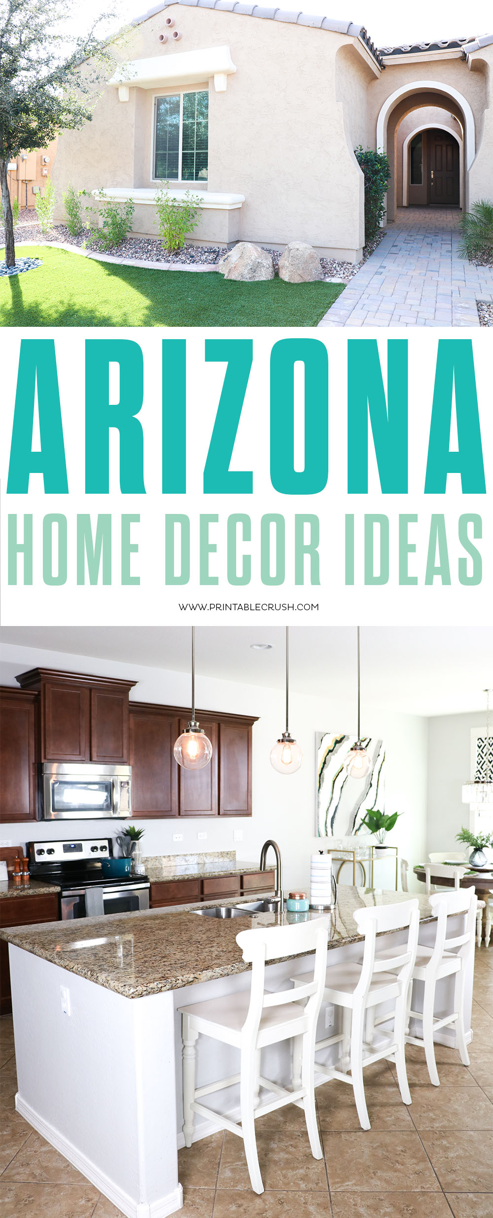 Not sure how to decorate a home in Arizona? Check out these Arizona Home Decor Ideas!