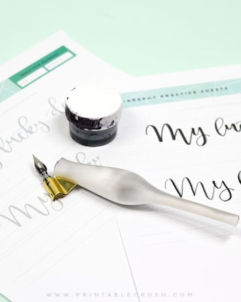 3 FREE St. Patty's Day Calligraphy Worksheets to help you practice calligraphy!