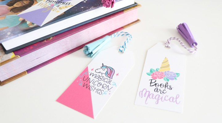 Create these DIY Unicorn Tassel Bookmarks with your Cricut Machine!