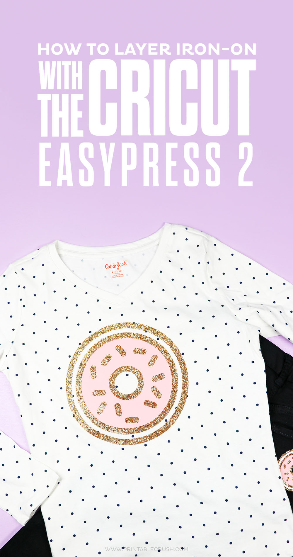 Learn to layer iron-on with the Cricut EasyPress 2 in this super easy tutorial!