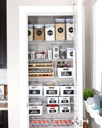 Get your pantry organized with these FREE Modern Cricut Pantry Labels and organization tips!