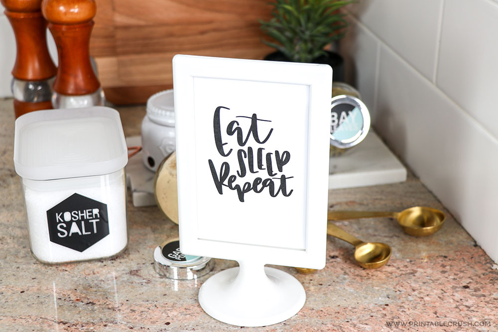 Make your kitchen more homey with a cute Hand Lettered quote!