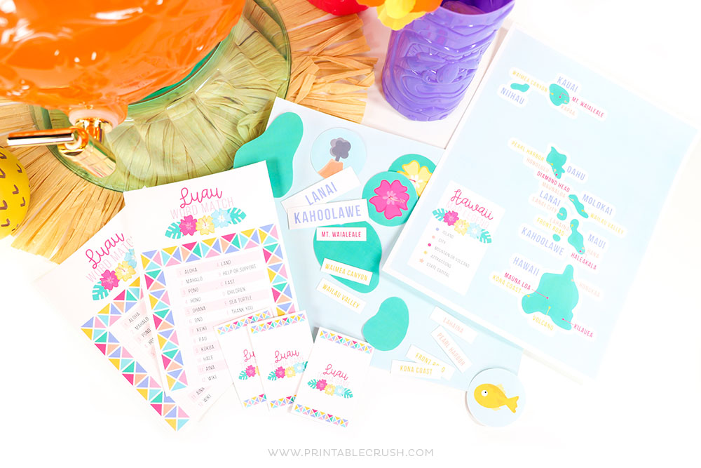 photo about Printable Party Games for Adults known as 3 Free of charge Printable Luau Celebration Online games - Printable Crush
